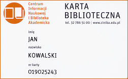 electronic library card issued by the registration
