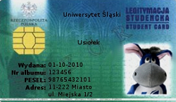 electronic student ID card